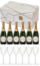 Laurent Perrier La Cuvee Champagne Brut (6 bottles + 6 flutes)