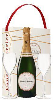 Laurent Perrier La Cuvee Champagne Brut & Flutes