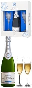 Charles de Cazanove Champagne Brut & Flutes