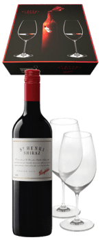 Penfolds St Henri Shiraz & Riedel Glasses Luxury Gift Set
